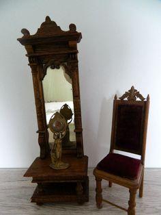 Gründerzeit-Schöner Wandspiegel mit Stuhl-um 1900 | eBay