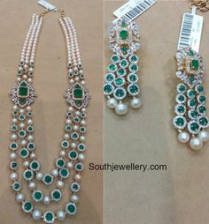نتيجة بحث الصور عن ‪single line south sea pearl with diamonds‬‏ Emerald Jewelry, Pearl Jewelry, Wedding Jewelry, Jewelery, Pearl Necklaces, Diamond Necklaces, India Jewelry, Bead Jewellery, Beaded Jewelry