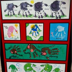 Handprint animals! I saw this today at the zoo. They charge an arm and a leg for them but they're so simple to do at home! I can't wait to try it!!!