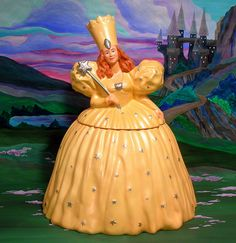Wizard of Oz Glinda Cookie Jar by splittyhead, via Flickr