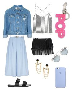 """Blue culottes"" by natashakorol on Polyvore featuring Topshop, Yumi, Steve Madden, Kain, White House Black Market, Stella & Dot, STELLA McCARTNEY and Christian Dior"