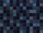 Purple/Blue Glass Mix Mosaic for garage bathroom