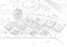 A four years-young Parisian architecture firm have trumped a star-packed line up to win the Guggenheim Helsinki museum design competition. Architecture Graphics, Architecture Drawings, Architecture Plan, Landscape Architecture, Contemporary Architecture, Architecture Diagrams, Helsinki Design, Berlin Museum, Design Competitions