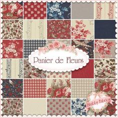 Panier de Fleurs Charm Pack by French General for Moda Fabrics