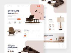 #aftereffect #animation #brown #clean #ecommerce #furniture #interior #landing #landingpage #minimalism #minimalist #webdesign #website Interior Design Website, Website Design Layout, Website Design Inspiration, Wireframe Design, Design Responsive, Ecommerce Web Design, Minimalist Web Design, Modern Web Design, Flat Design
