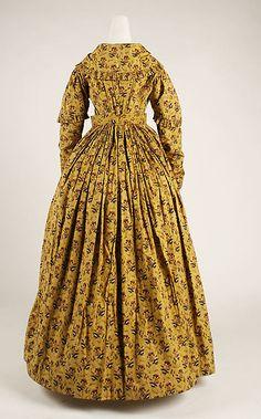 Dress. Date: ca. 1840 Culture: British Medium: cotton