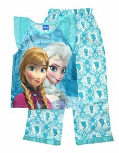 Brand new two piece Frozen pajama set for girls. Features a tank top and cotton pants with the princesses silhouettes.