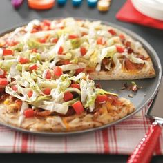 Bacon-Chicken Club Pizza Recipe from Taste of Home
