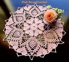 \ PINK ROSE CROCHET /: Crochet-a-Long Hearts Doily