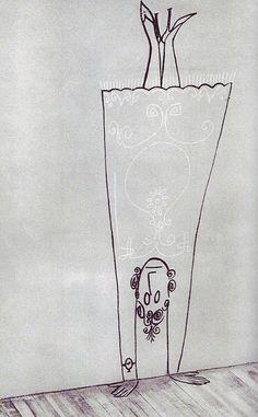 """"""" Saul Steinberg, À la claire fontaine: Exercice du jour """""""
