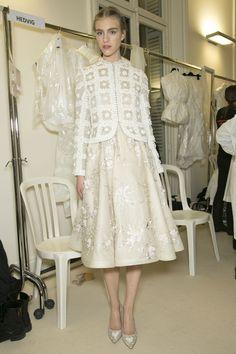 white dress by Valentino Spring 2013 - Backstage