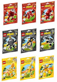 New Lego Mixels Series 1 Complete Set of 9 Great Party Bag Fillers