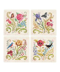 Look at this Garden Plate - Set of Four on #zulily today!