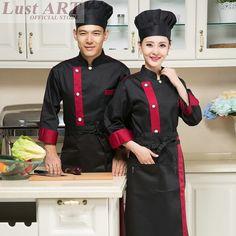 uniforme chef - Buscar con Google Staff Uniforms, Work Uniforms, Uniform Clothes, Men In Uniform, Hotel Uniform, Restaurant Uniforms, Uniform Design, Black White Red, Work Attire