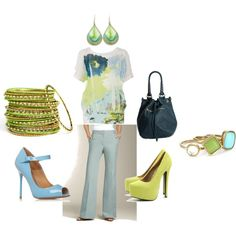 Blue Green Combo, created by amybwebb on Polyvore