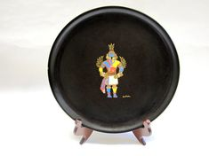 Couroc Tray Native American Kachina Indian by sweetie2sweetie, $12.99