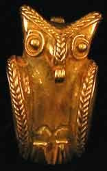 Tairona Tumbaga Pendant of an Owl - PF.0796 Origin: Colombia Circa: 800 AD to 1200 AD