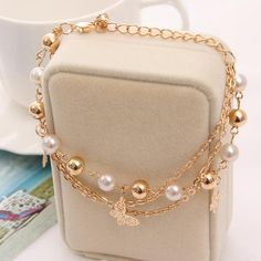 Cheap charm bracelet, Buy Quality bracelets and bangles directly from China pendant bracelet Suppliers: 2018 Gold Color Multilayer Beaded Pendant Bracelets and Bangles Fashion Women Heart Butterfly Charm Bracelet Jewelry Accessories Bangle Bracelets With Charms, Layered Bracelets, Heart Bracelet, Crystal Bracelets, Bracelet Set, Fashion Bracelets, Fashion Jewelry, Bangles, Trendy Accessories
