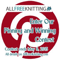 Calling all knitters, crocheters, and Pinterest addicts: Join AllFreeKnitting and Red Heart in an exciting Pinterest contest for a chance to win an amazing Prize Package from Red Heart.  Learn how to win yarn by doing something you already love: pi