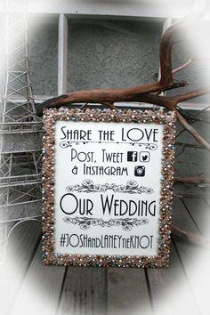cartello retrò hashtag matrimonio
