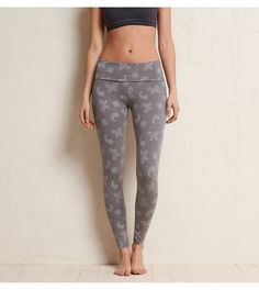 Dark Heather Grey Aerie Skinny Yoga Pant - Perfect for yoga, workouts & just about anything else! #Aerie