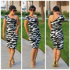 DIY One Shoulder Dress  & Pattern Review M6320