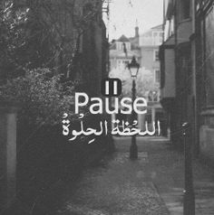 Pause the beautiful moment  #arabic