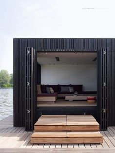 One way to upcycle a shipping container into a weekend hide away
