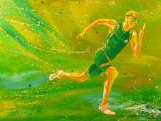 Läufer, Acryl auf Leinwand, Glanzfirnis, 100cm x 70cm
