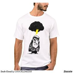 Customizable T-Shirt made by Zazzle Apparel. Dark Cloud, Cartoon T Shirts, Elephant Gifts, Fitness Models, Clouds, Unisex, Casual, Sleeves, Cotton