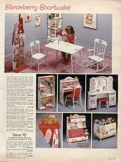 Strawberry Shortcake, had just about all of these! 1983-xx-xx Sears Christmas Catalog P171 by Wishbook, via Flickr