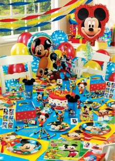 Kit de decoración de fiesta Mickey Mouse