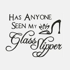 Has Anyone Seen My Glass Slipper Machine Embroidery Designs