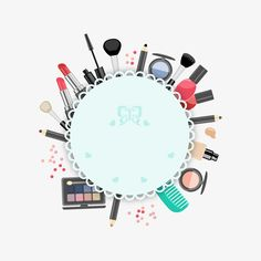 Makeup illustration PNG and Vector Logo Design, Design Poster, Graphic Design, Logo Online, Makeup Poster, Makeup Illustration, Makeup Artist Logo, Cosmetic Shop, Cosmetic Logo