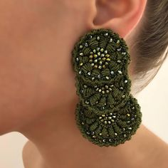 🎄Green Vibes Only 🎄 . Diamond Earrings, Crochet Earrings, Artisan, Street Style, Handmade, Instagram, Jewelry, Fashion, Stud Earrings