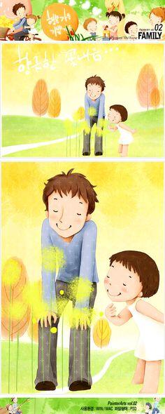 사람, 식물, 어린이, 행복, 아빠, 꽃, 가족, 남자, 나무, 딸, 언덕, 일러스트, freegine, illust, 페인터, Painter, 들꽃, 에프지아이, FGI, pai002 #유토이미지 #프리진 #utoimage #freegine 3871089