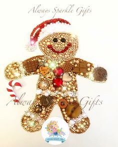 Made with High grade glass crystals for extra Christmas sparkle Available to purchase at Always Sparkle Gifts on Etsy Button Art Projects, Button Crafts, Fair Projects, Costume Jewelry Crafts, Vintage Jewelry Crafts, Jewelry Art, Christmas Buttons, Christmas Jewelry, Christmas Ornaments