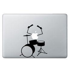 Drums  Apple Macbook Decal Macbook Sticker Macbook by JellyXStudio, $6.90