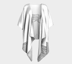 White Mama Bear Draped Kimono