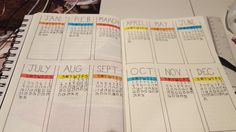 Bullet Journal — blackgirlbujo: Here's my year at a glance. It's...