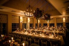 Candle Light Dinner   Babington House Wedding With Bride In Bespoke Yolancris Wedding Dress With Bridesmaids In Self Portrait And Images From Matt Parry Photography