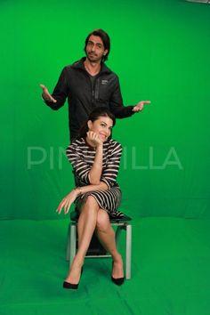 Jacqueline Fernandez, Arjun Rampal shoot for 'Roy' promo.