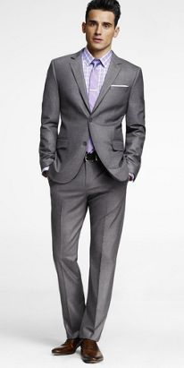 Calvin Klein Charcoal Solid Classic-Fit Suit | Fitted suits and ...