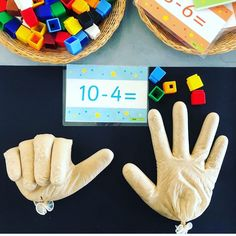 Subtraction Hands ✋🏼🤚🏼 Every year this activity is a winner with . - Subtraction Hands ✋🏼🤚🏼 Every year this activity is a win for my cherubs and every year I - Preschool Learning, Kindergarten Classroom, Teaching Math, Ks1 Classroom, Classroom Teacher, Future Classroom, Toddler Learning Activities, Preschool Activities, Subtraction Activities
