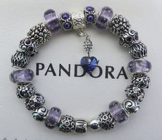 """Authentic Pandora Sterling Silver Bracelet Receipt, Hinged Gift Box and 24 European Beads/Charms  """"FREE Shipping, FREE Grab-bag"""""""