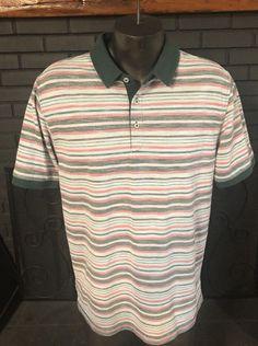 a82d8bae Linksoul By John Ashworth & Co Tempus Fugit Men's Golf Polo Shirt Size Large