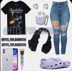 Baddie Outfits Casual, Swag Outfits For Girls, Cute Teen Outfits, Cute Outfits For School, Teenage Girl Outfits, Cute Comfy Outfits, Teenager Outfits, Teen Fashion Outfits, Trendy Outfits