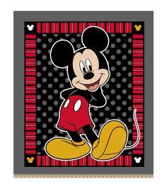 Disney Mickey Mouse 2 Print 48'' No Sew Fleece Throw