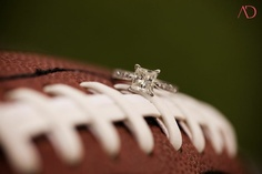 football engagement pictures...perfect! - Click image to find more Weddings Pinterest pins