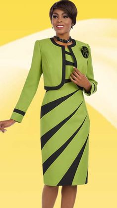 Ben Marc Executive 11629 ( Ladies Church And Career Dress With Radial Stripe Pattern And Jacket With Flower Brooch ) Source by zimsison church women dress African Attire, African Fashion Dresses, African Dress, Cute Dresses, Beautiful Dresses, Casual Dresses, Dress Outfits, Fashion Outfits, Womens Fashion